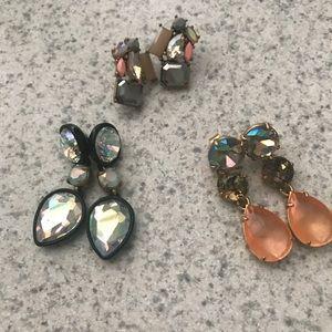 JCrew earrings set of three